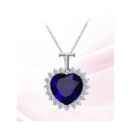 Collier Saphir Coeur De l'Océan
