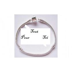 Bracelet pour pandora, plaqué argent mailles serpents