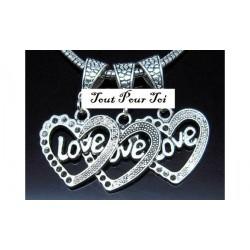 Pendentif coeur Love amour