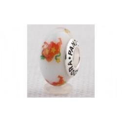 Perle verre Murano signe astro taureau