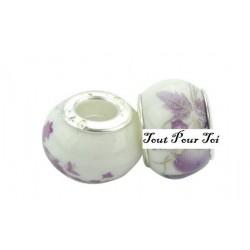 Perle Porcelaine fleur violette