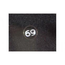 Piercing argent nez nombre 69