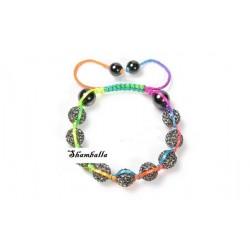 Bracelet Shamballa multicolore