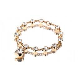 Bracelet coeur doré CZ