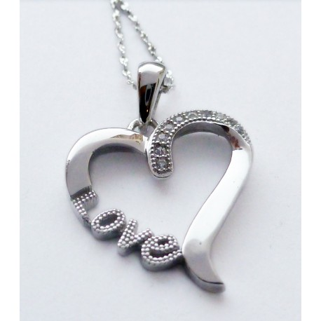 Collier coeur Love