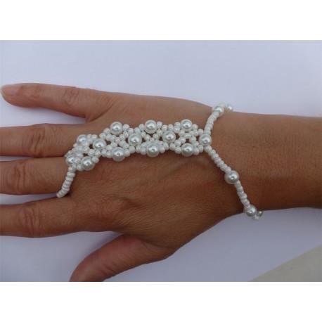 Parure De Main Elastique Perle Multirangs