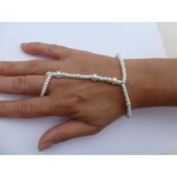Parure De Main Elastique Perle