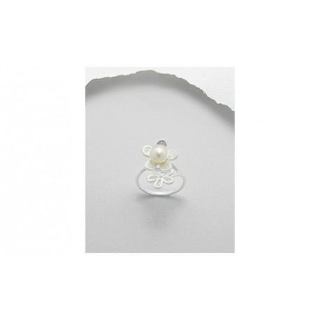 Bague Perle Et Fleurs T57