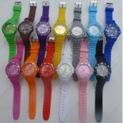 Montre silicone couleur