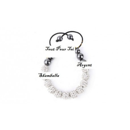 Bracelet Shamballa perle et strass